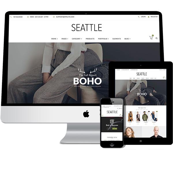 Seattle Volusiion REsponsive Design Template | Premium
