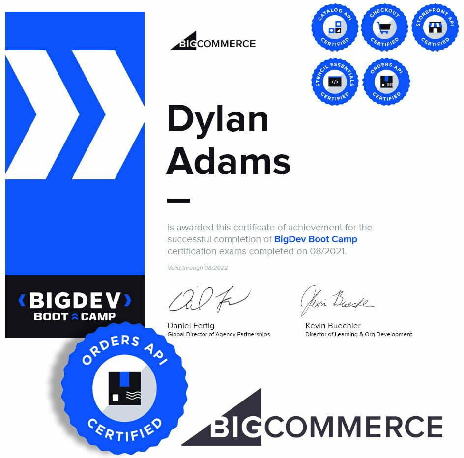 BigCommerce Certified developer